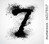 grunge letter   alphabet symbol ... | Shutterstock .eps vector #162175517