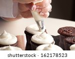 chef decorating and piping... | Shutterstock . vector #162178523