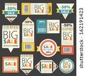 set of color sale vintage signs ... | Shutterstock .eps vector #162191423
