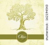 Olive Tree On Vintage Paper....