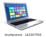 Modern Laptop Isolated On Whit...