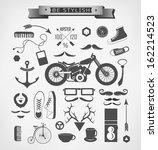 hipster style elements  icon... | Shutterstock .eps vector #162214523