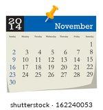 calendar 2014 november | Shutterstock .eps vector #162240053
