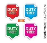 vector  duty free stickers with ... | Shutterstock .eps vector #162240773