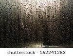 Rain Drops On The Window On Th...