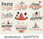 set of birthday party...