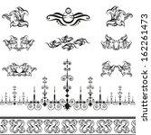 vintage calligraphic decorative ... | Shutterstock .eps vector #162261473