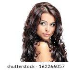 portrait of beautiful woman | Shutterstock . vector #162266057
