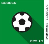 soccer ball icon. vector... | Shutterstock .eps vector #162310373