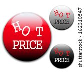 hot price labels | Shutterstock .eps vector #162310547