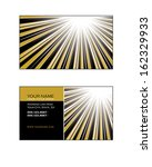 template for business card. | Shutterstock .eps vector #162329933