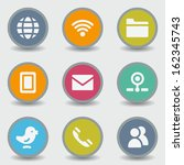 communication web icons  color... | Shutterstock .eps vector #162345743