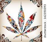 artistic leaf  cannabis ...   Shutterstock .eps vector #162350393