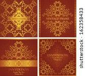 vector set of vintage frames.... | Shutterstock .eps vector #162358433