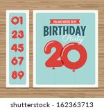 birthday party invitation card  ... | Shutterstock .eps vector #162363713