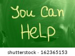 you can help concept | Shutterstock . vector #162365153