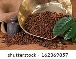 scale pan with weight and... | Shutterstock . vector #162369857