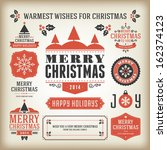christmas decoration vector... | Shutterstock .eps vector #162374123