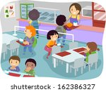 illustration of kids in a... | Shutterstock .eps vector #162386327