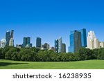 skyscrapers in the back and... | Shutterstock . vector #16238935