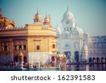 sikh gurdwara golden temple ... | Shutterstock . vector #162391583