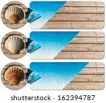 three sea holiday banners   n2  ... | Shutterstock . vector #162394787