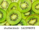 Fresh Kiwi Fruit Sliced Use Fo...