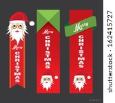 christmas ribbon with santa... | Shutterstock .eps vector #162415727