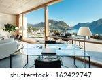 beautiful modern house in... | Shutterstock . vector #162422747