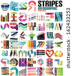 big set of infographic modern... | Shutterstock .eps vector #162433253