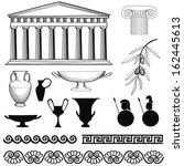 greek symbol silhouette... | Shutterstock .eps vector #162445613