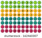 big set of colorful isolated...