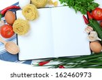 cooking concept. groceries with ... | Shutterstock . vector #162460973