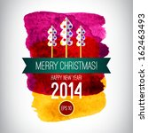 vector christmas background.... | Shutterstock .eps vector #162463493