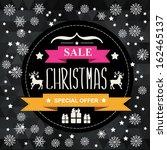 christmas poster sale...   Shutterstock .eps vector #162465137