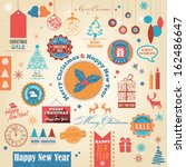 christmas vintage retro grungy... | Shutterstock .eps vector #162486647