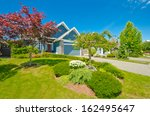 big custom made luxury house... | Shutterstock . vector #162495647