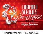 vector happy new year 2014 red... | Shutterstock .eps vector #162506363