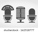 microphone icons set  vector... | Shutterstock .eps vector #162518777