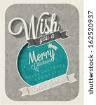 christmas decoration collection ... | Shutterstock .eps vector #162520937