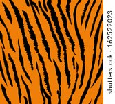 Seamless tiger fur pattern  - stock vector