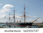 hms warrior docked in...