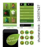 healthy lifestyle app. set of...