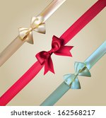 vector corner ribbons and bows... | Shutterstock .eps vector #162568217