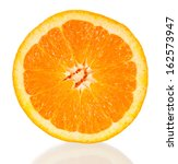 orange cross section isolated... | Shutterstock . vector #162573947