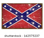 confederate flag on rusty old... | Shutterstock . vector #162575237