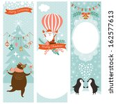 set of vertical christmas... | Shutterstock .eps vector #162577613