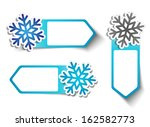 three winter sales labels with... | Shutterstock .eps vector #162582773