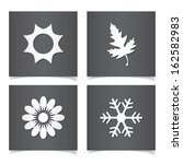 vector season icons set. | Shutterstock .eps vector #162582983