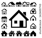 houses icons set. real estate.... | Shutterstock .eps vector #162600743